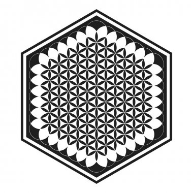 Vector icon with ancient symbol flower of life for your project icon