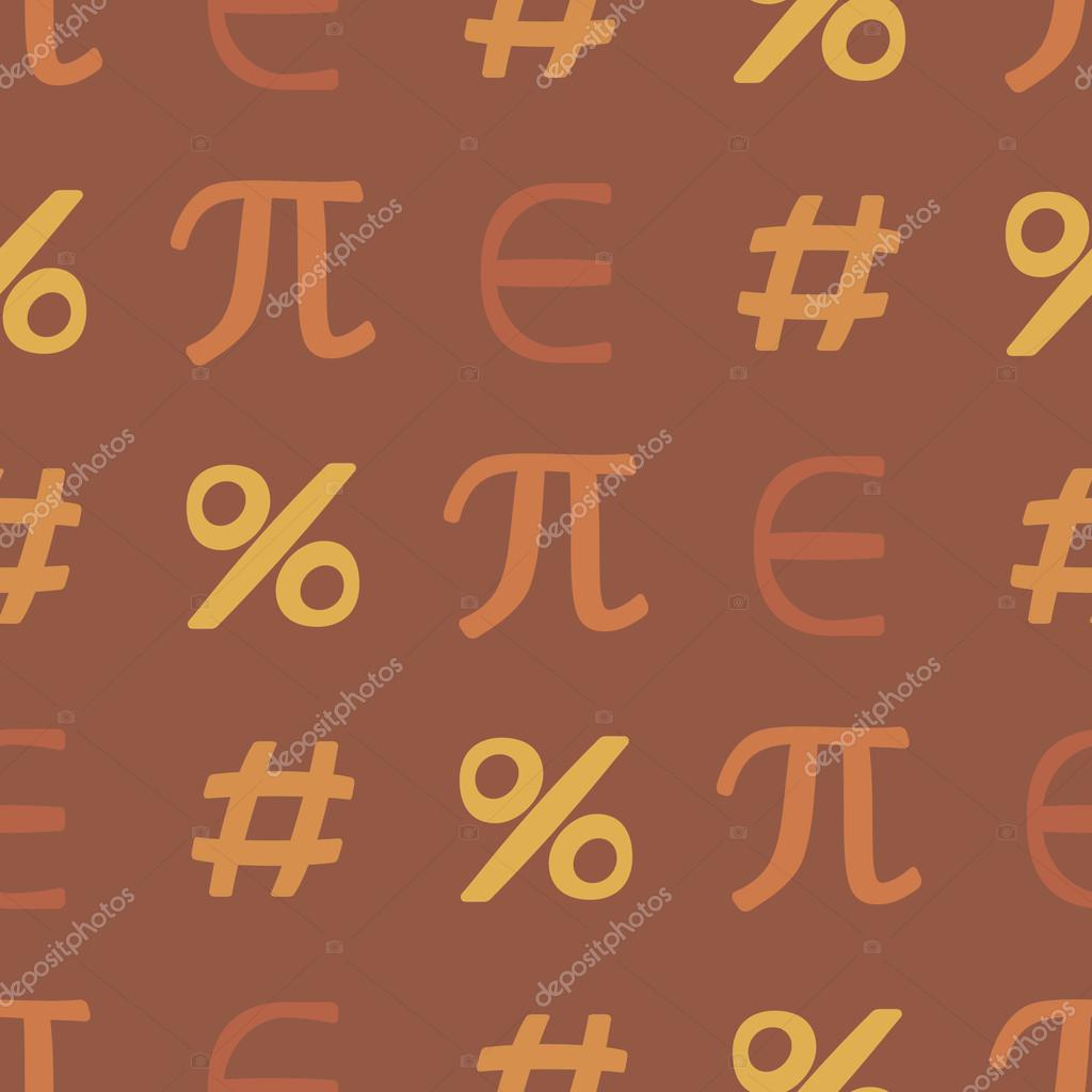 Seamless Background With Mathematical Symbols Stock Vector
