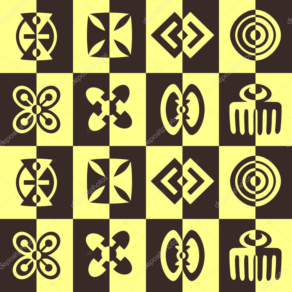 Seamless background with adinkra symbols stock vector drutska seamless background with adinkra symbols stock vector biocorpaavc Images