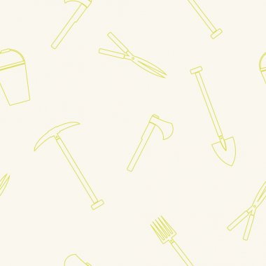 Seamless background with garden tools