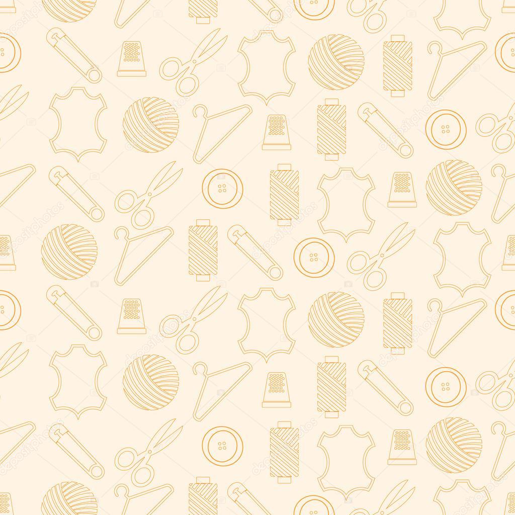 Nahtlose Muster mit Nähen ähnliche Symbole — Stockvektor © drutska ...