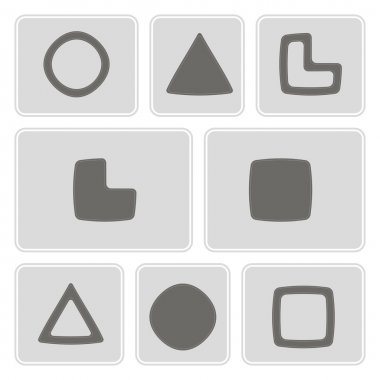 Set of monochrome icons with socionic symbols for your design