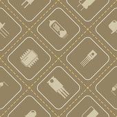 Fotografie Bezešvé pozadí s ikonami elektronických součástek