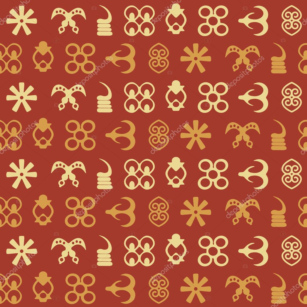 Seamless pattern with adinkra symbols stock vector drutska seamless pattern with adinkra symbols stock vector biocorpaavc Images