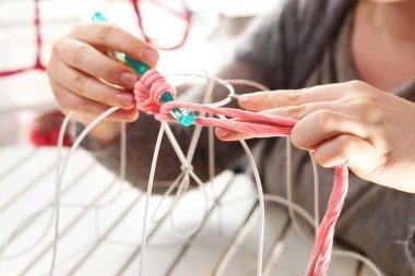 Hand needlework. Needlework.