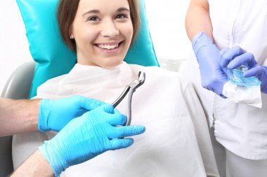 Dentistry, plucking, chiselling carious tooth