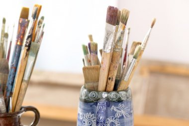Brushes, accessories for artists
