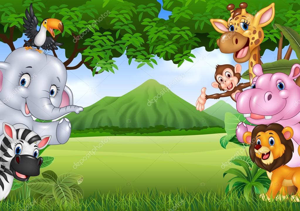 Fondos De Animales Animados: Dibujos: Paisaje De Animales