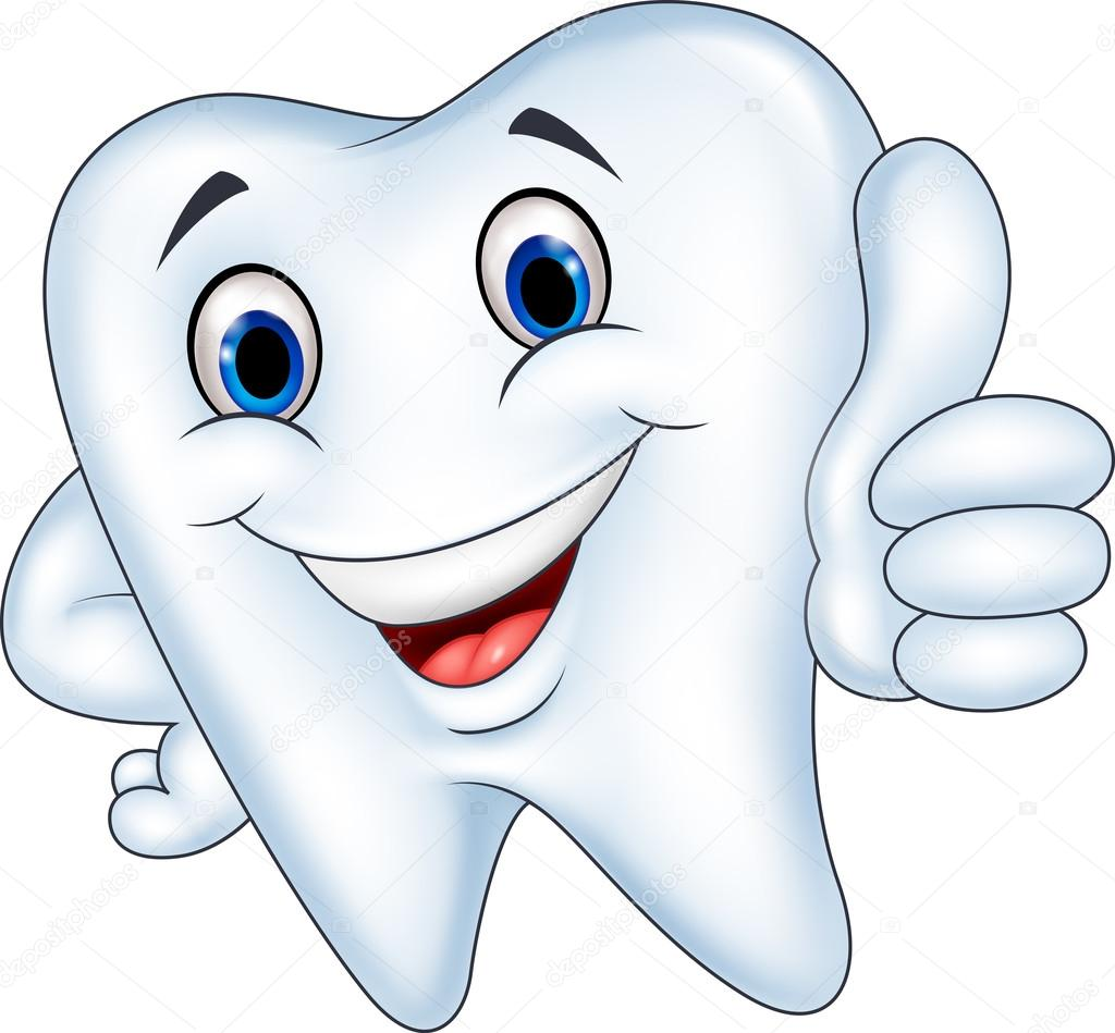 Tooth Cartoon With Thumb Up Stock Vector 169 Tigatelu