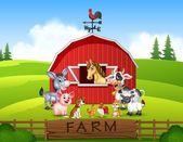 Obrázek pozadí farmy se zvířaty