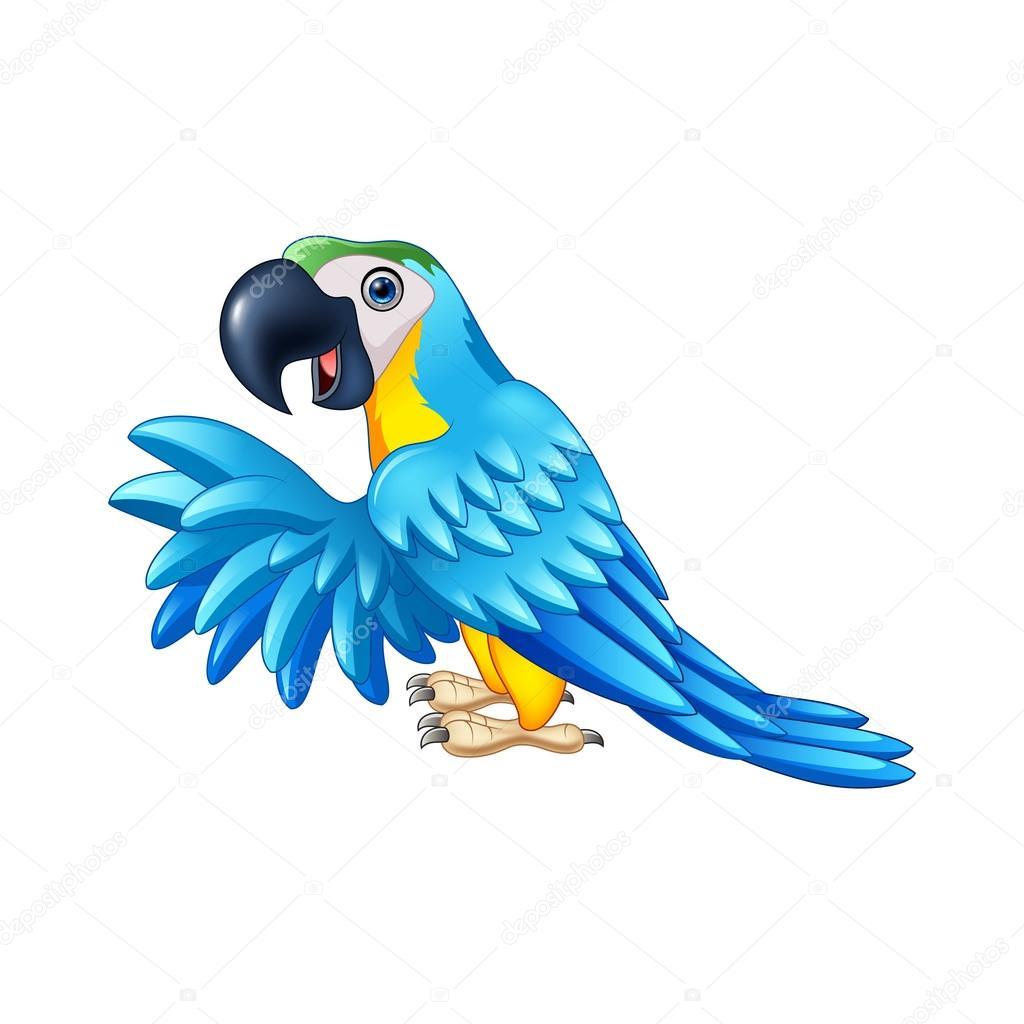 Perroquet bleu dessin anim image vectorielle tigatelu 121613858 - Perroquet en dessin ...