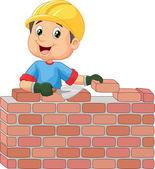 Fotografie stavební dělník, kterým cihly
