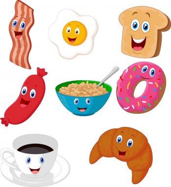 Breakfast cartoon collection