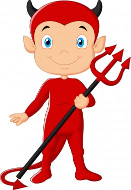 Red devil cartoon