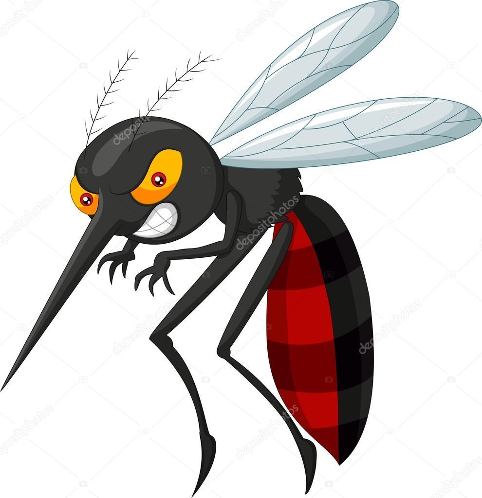 Animato zanzara cartone cartone animato zanzara arrabbiato