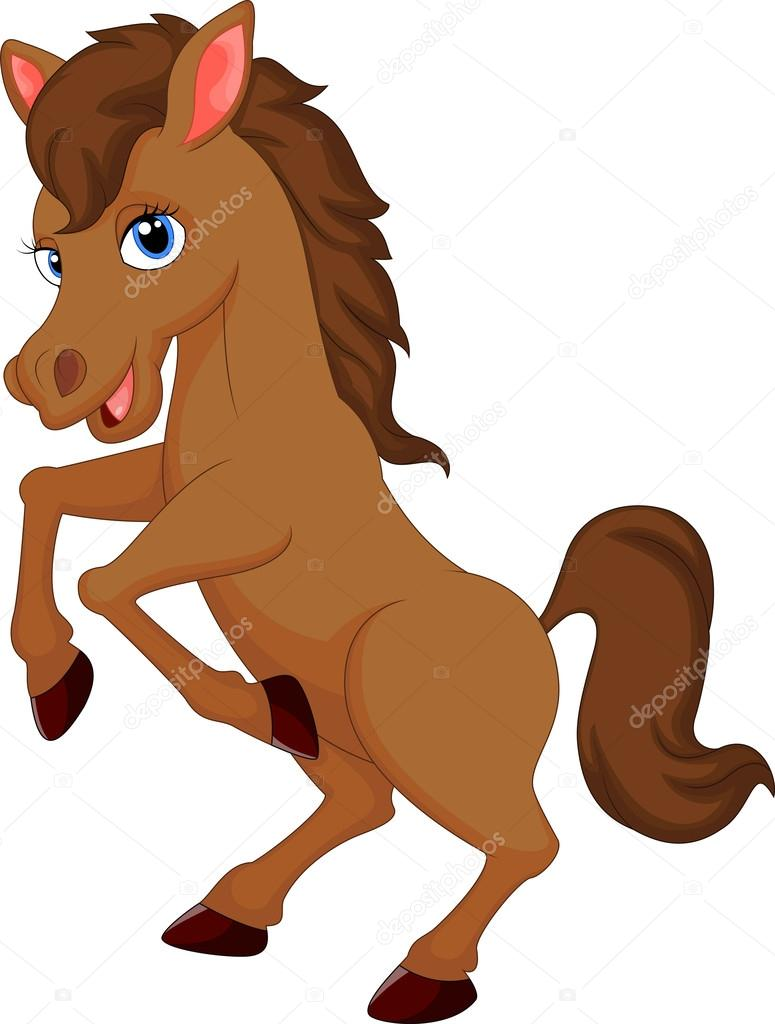 Cute Horse Cartoon Stock Vector C Tigatelu 53338167