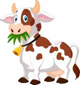 Photo Happy cartoon cow