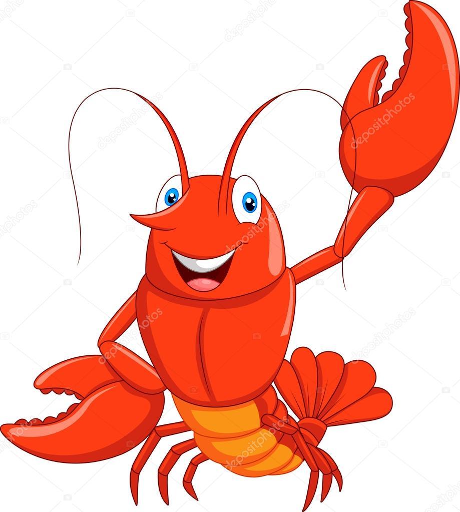 Dessin animé homard agitant image vectorielle par tigatelu ...