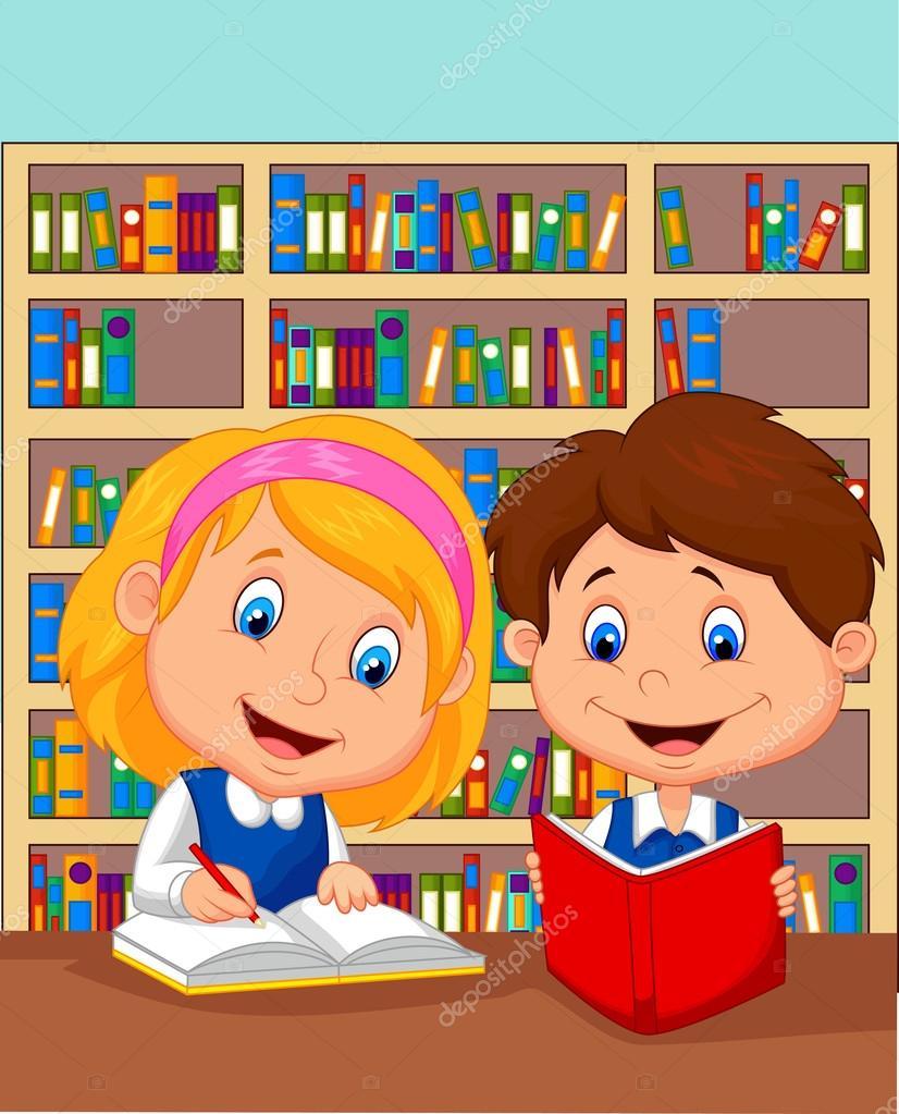 Imagenes Ninos Juntos Dibujos Animados Ninos Y Ninas Estudian