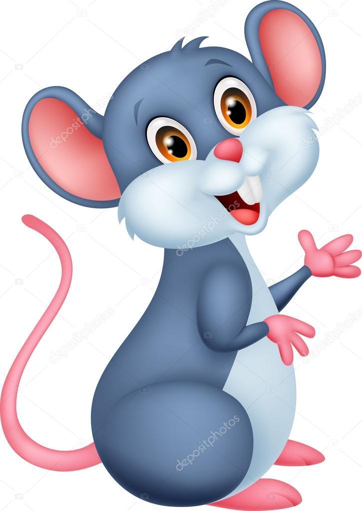 Dibujos animados del ratón feliz — vector de stock