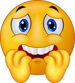 Angst Emoticon-Smiley-cartoon