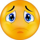 Kreslený smutný smajlík emotikonu