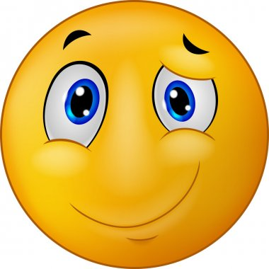 Happy emoticon smile cartoon