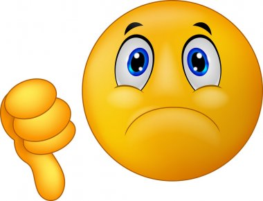 Dislike sign emoticon cartoon