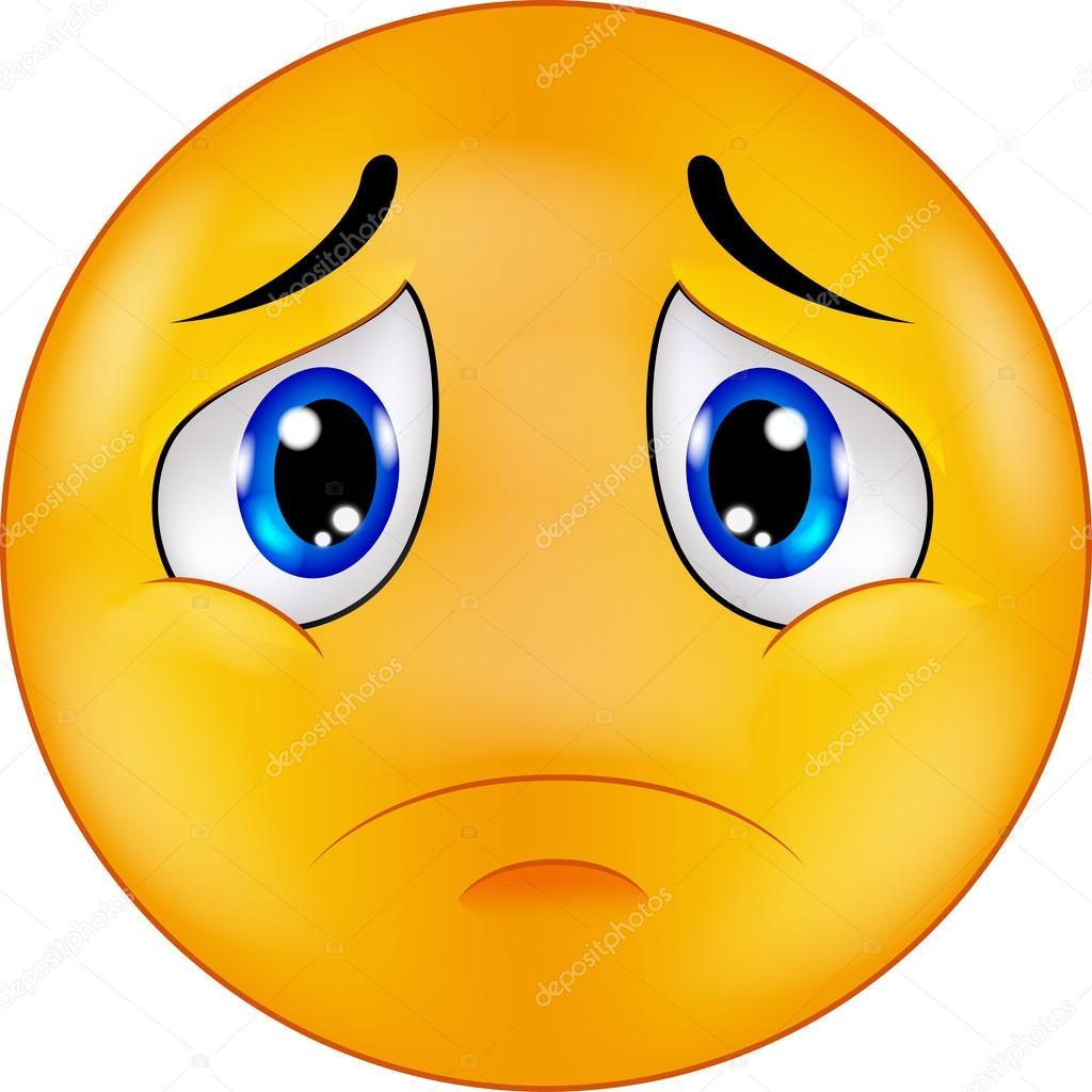 Caricature d 39 emoticon smiley triste image vectorielle tigatelu 63465181 - Dessins triste ...