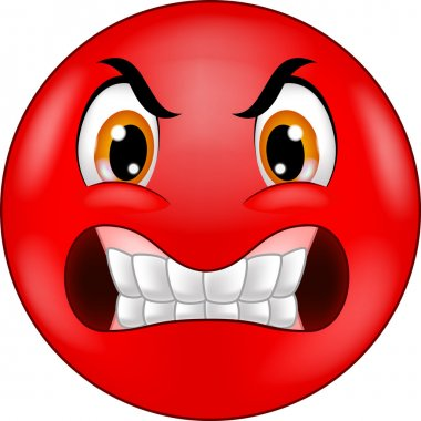Angry smiley emoticon cartoon