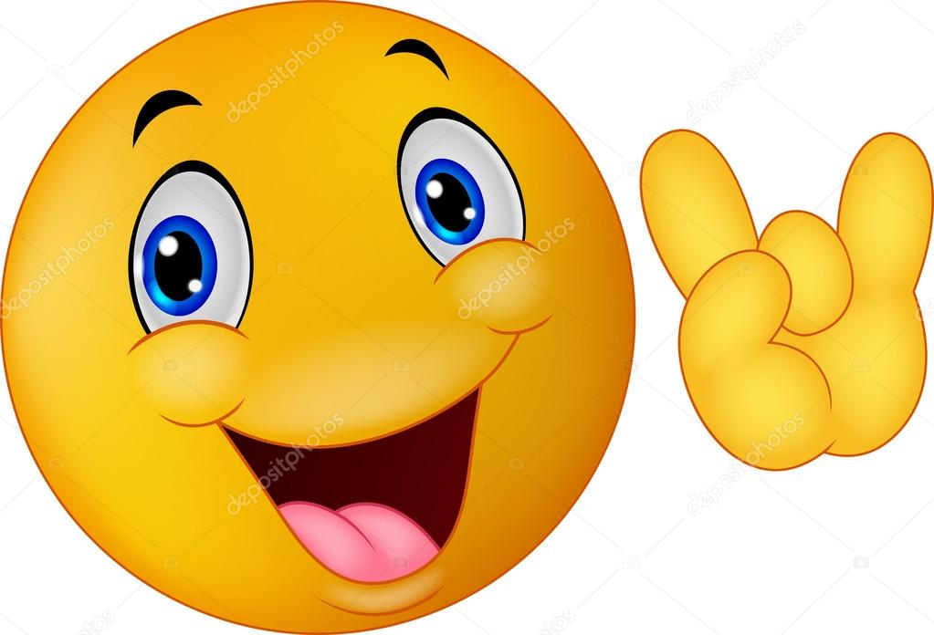 Dessin anim smiley emoticon donnant le signe de la main image vectorielle tigatelu 63475597 - Dessins de smiley ...
