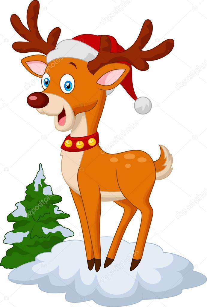 Dibujos Ciervos De Navidad Dibujos Animados De Ciervos De