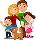 šťastné rodiny kreslený