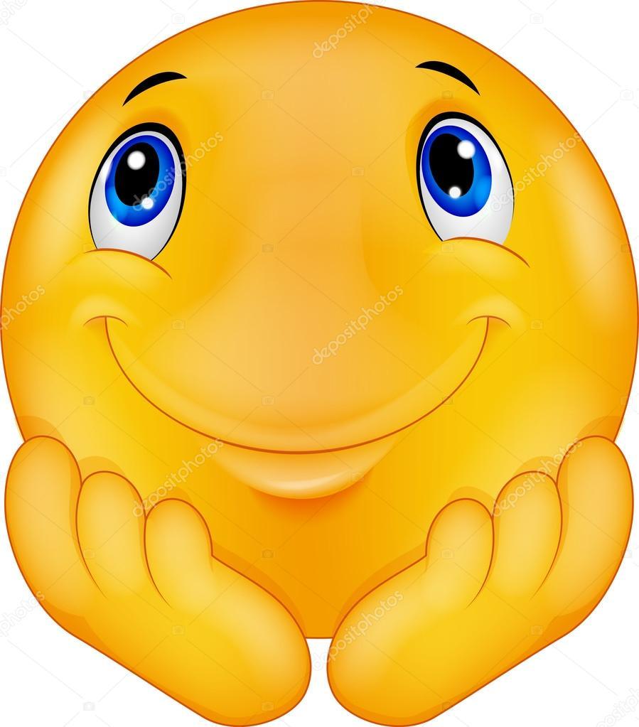 Thinking emoticon smiley cartoon — Stock Vector © tigatelu #63507347