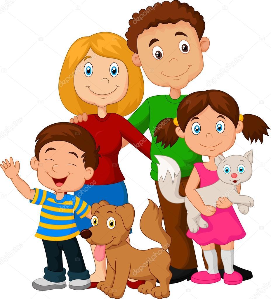 Gelukkig Familie Cartoon Stockvector Tigatelu 63509663