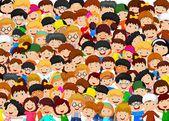 Fotografie Dav dětí kreslených