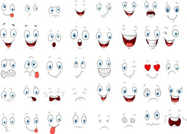 Various face cartoon expressions