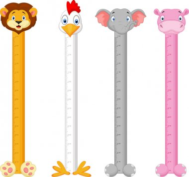 Cartoon animal wall meter