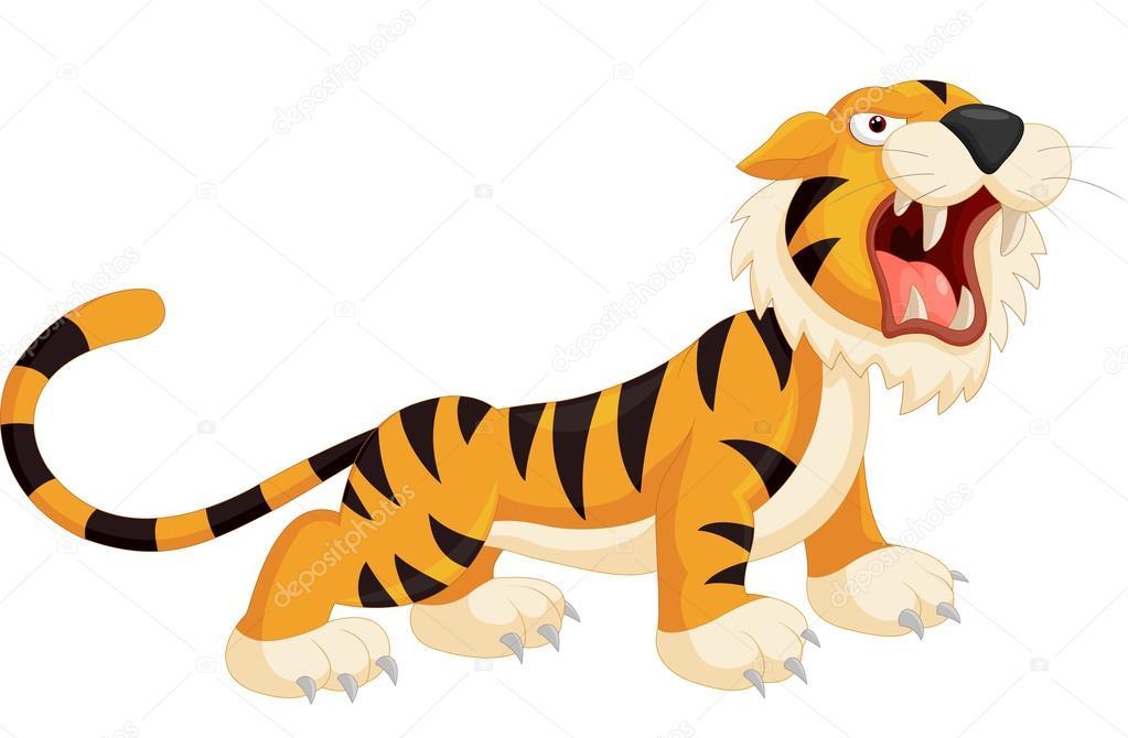 Tigre Gifs Animado: Dibujos Animados Tigre Rugiendo