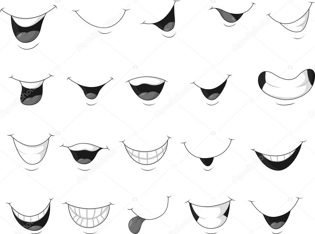how to draw a mouth smile