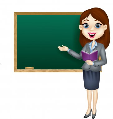 Cartoon female teacher