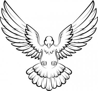 Vector illustration of Cartoon Dove birds logo for peace concept and wedding design stock vector