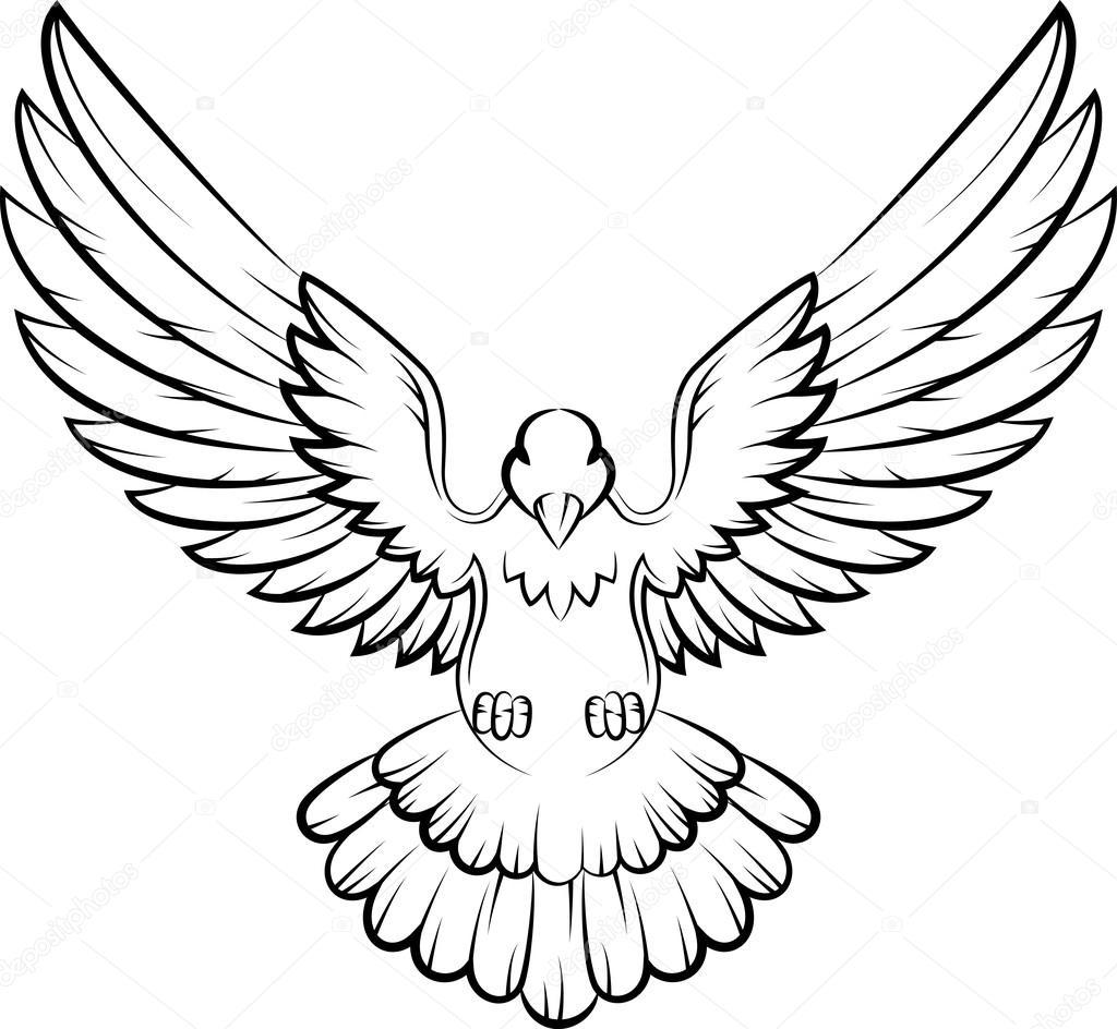 dibujos animados logo de aves paloma de paz concepto y. Black Bedroom Furniture Sets. Home Design Ideas