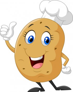 Cartoon potato giving thumb up