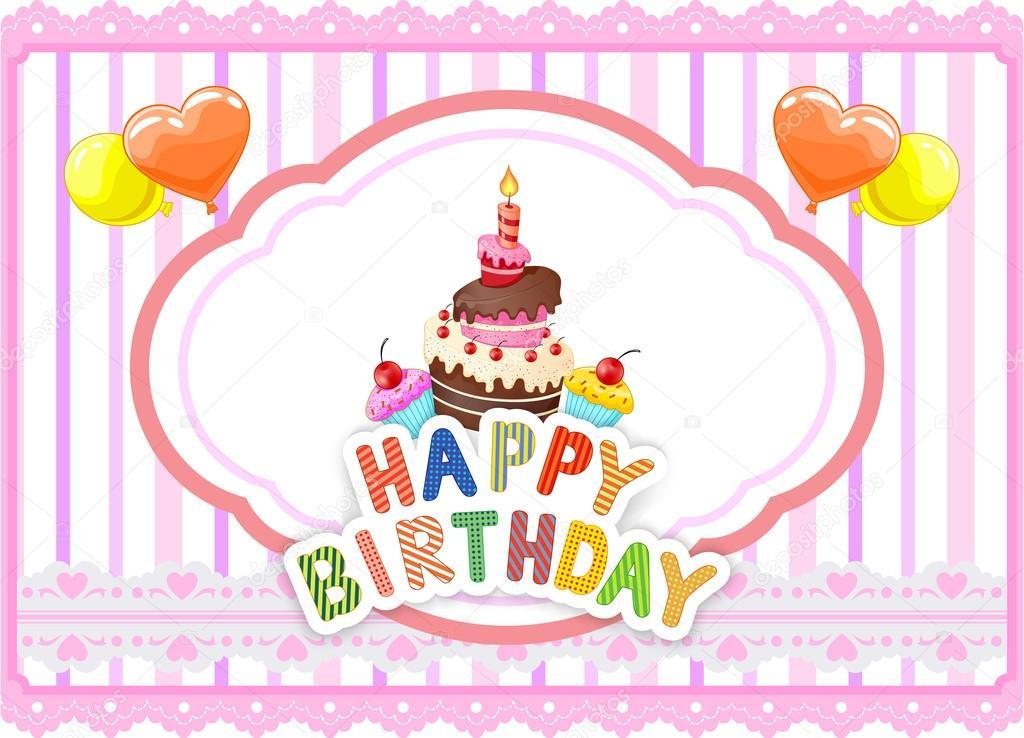 kreslené přání k narozeninám přání k narozeninám kreslený — Stock Vektor © tigatelu #67085693 kreslené přání k narozeninám