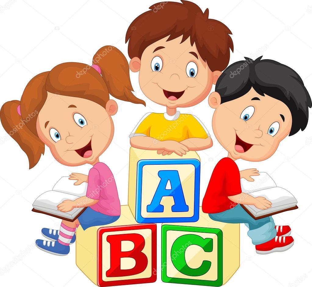 vrai ou faux droit 2 Depositphotos_67088291-stock-illustration-children-cartoon-reading-book-and