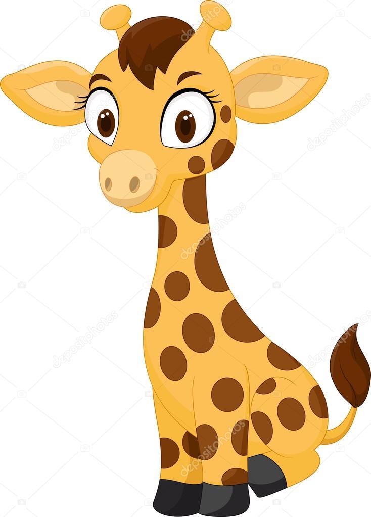 dibujos animados beb u00e9 jirafa sentada archivo im u00e1genes Cute Animal Clip Art cute giraffe clipart black and white