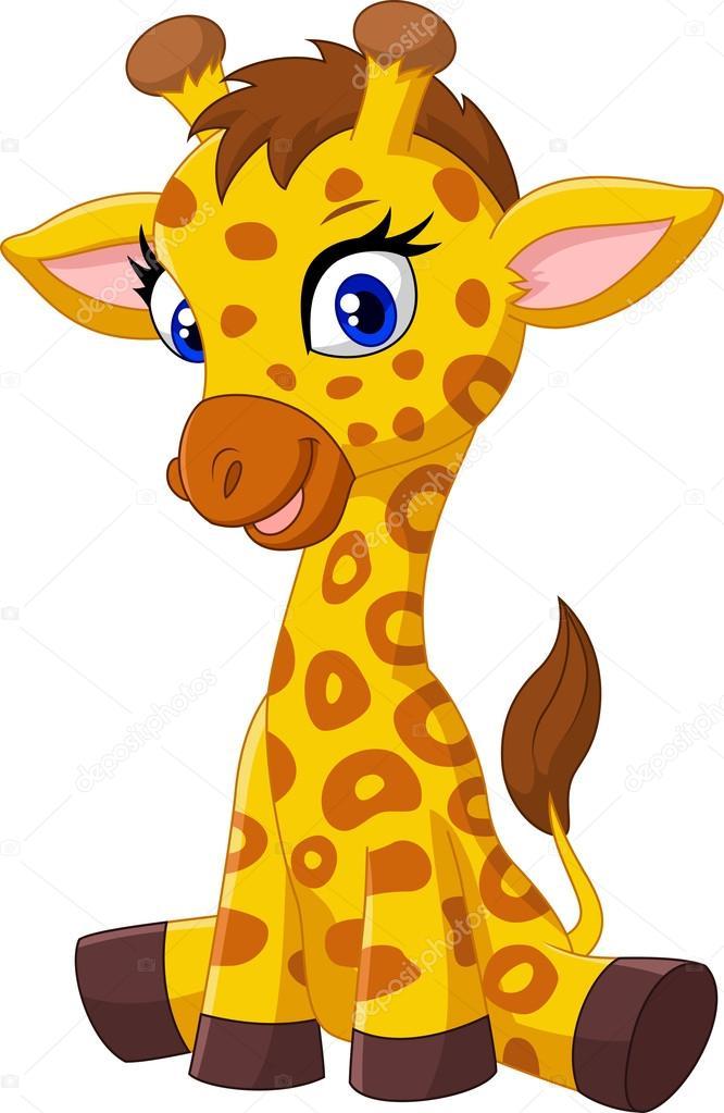 dessin anim b b girafe assis image vectorielle tigatelu 70911991. Black Bedroom Furniture Sets. Home Design Ideas