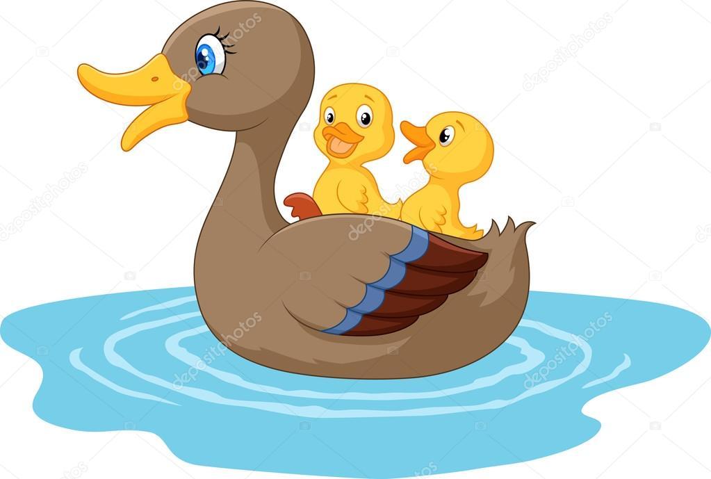 Dibujos patos dibujos animados de patos en el estanque for Imagenes de estanques para patos