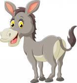 Photo Cartoon donkey smile and happy